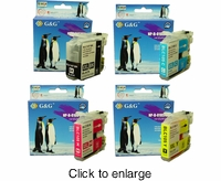 Brother LC-107Bk / LC-105C / LC-105M / LC-105Y Compatible Printer Ink Cartridge Bundle - click to enlarge