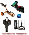 Clicgear 3.5+ Golf Push Cart Orange