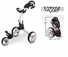 Rovic RV1C by Clicgear Compact Golf Push Cart Arctic/White