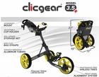 Clicgear 3.5+ Golf Cart | Newest 3.5 Model FREE Accessory!