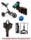 Clicgear 3.5+ Golf Push Cart Charcoal/Black FREE ACCESSORIES!