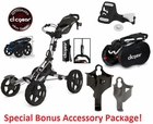 Clicgear 8.0 Four Wheel Golf Push Cart  FREE SHIPPING!