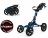 Matte Blue Clicgear Model 8.0 Four Wheel Golf Push Cart