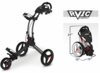 Rovic RV1C by Clicgear Compact Golf Push Cart Charcoal/Black