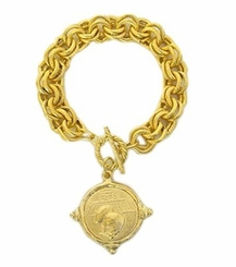 18k Gold Plated Football Intaglio Bracelet out of stock