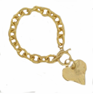 18k Gold Plated Heart Toggle bracelet -SOLD OUT -