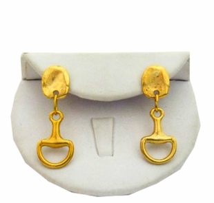 18K Gold Plated Horse Bit Earrings - SOLD OUT