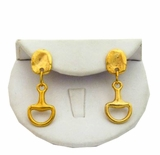 18K Gold Plated Horse Bit Earrings
