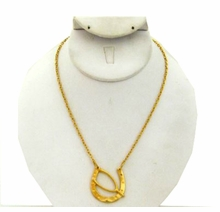 18K Gold Plated Lucky Horseshoe and Wishbone Necklace LAST ONE
