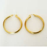 18K Gold Plated Matte Gold Hoop Earrings
