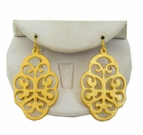 18K Gold Plated Open Scroll Pierced Earrings