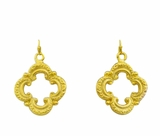 18K Gold Plated Scroll Earrings