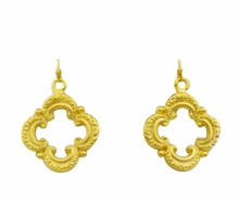 18K Gold Plated Scroll Earrings - SOLD OUT