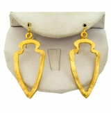 18K Gold Plated Shield Dangle Earrings