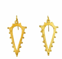 18K Gold Plated Studded Cutout Earrings OUT OF STOCK