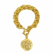 18k Gold Plated Universal Monogram Bracelet out of stock