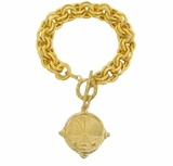 18K Gold Plated Women's Golf Bracelet