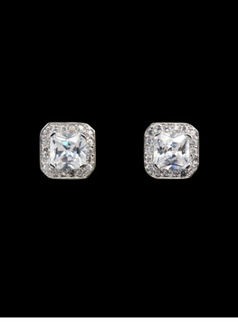 2 Carat Cubic Zirconia Princess Cut Stud Earrings -OUT OF STOCK