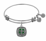 4 Leaf Clover Bracelet : Antique Silver Angelica Bangle