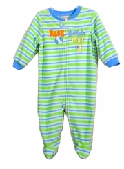 ABSORBA Baby - Green striped Baseball Sleeper