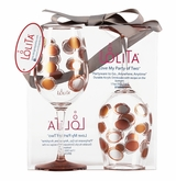 Acrylic Wine Drinkware Set - Circles In Motion Set of 2