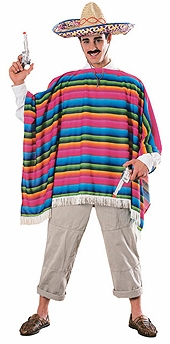 Adult Mexican Costume - Serape and Hat