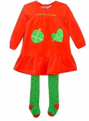 Agatha Ruiz Red Velour Tunic Dress & TIGHTS!  12 MONTH LAST ONE