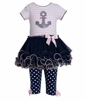 Anchor Tutu Dress Navy Pink - SOLD OUT