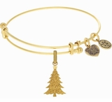 Angelica Bangle Bracelet - Christmas Tree Antique Gold