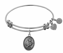 Angelica Bracelet : Faith , Hope and Charity Antique Silver