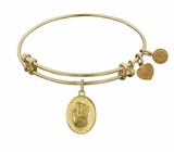 Angelica Bracelet - Hand of Fatima Antique Gold