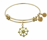 Angelica Bracelet Wheel of Dharma Antique Gold