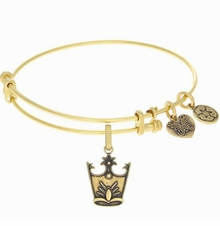 Angelica Glinda Crown Wizard of Oz Bangle Bracelet - Gold -sold out
