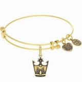 Angelica Glinda Crown Wizard of Oz Bangle Bracelet - Gold