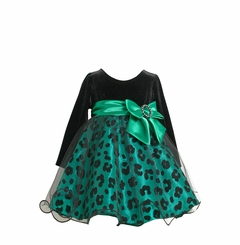 Animal Print Flock Taffeta Girl's Special Occasion Dress - SOLD OUT