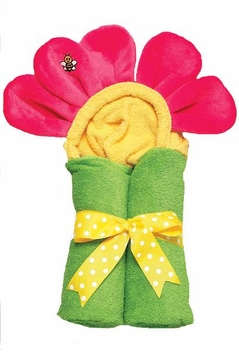 Animal Tubby Towel - HOT PINK FLOWER - SOLD OUT
