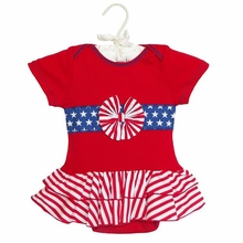 AnnLoren Baby-Girls 4th of July Patriotic Tutu Skirted Onesie
