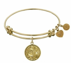 Antique Gold Brass The Sea Bangle Angelica