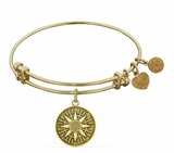 Antique Gold Compass Sand Dollar Angelica Bangle Adjustable