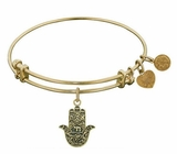 Antique Gold Hamsa Bracelet Angelica Adjustable