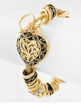 Antique Gold Toggle Heart Bracelet