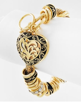 Antique Gold Toggle Heart Bracelet - SOLD OUT