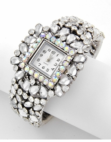 Antique Silver Aurora Beaurealis Stone and Crystal Watch out of stock