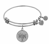 Antique Silver Registered Nurse Bracelet Adjustable Bangle - sold out