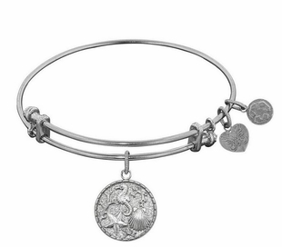 Antique Silver The Sea Bangle Bracelet Adjustable Angelica - OUT OF STOCK