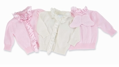 Baby Angel Wings Cardigan Sweater - Choose Pink or Cream - sold out