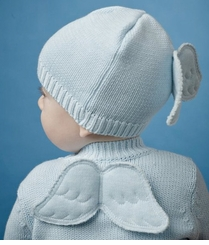 Baby Boy Hat - Blue Angel Wing