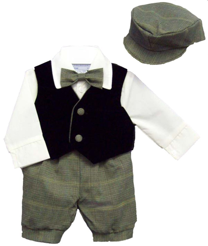 Our baby boy outfits will make shopping for an adorable, matching outfit hassle free. You'll find the pants, shirt, socks and accessories all in one place with our baby boy clothing sets. Whether your little one is sporting baby boy plaid outfits or baby boy camo outfits, we've got you covered.