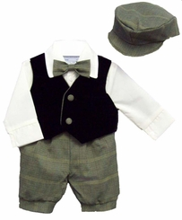 Baby Boy Suits : Alvin Boys 5pc Knicker Vested Set - OUT OF STOCK