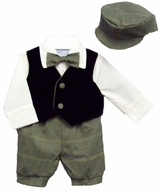 Baby Boy Suits : Alvin Boys 5pc Knicker Vested Set